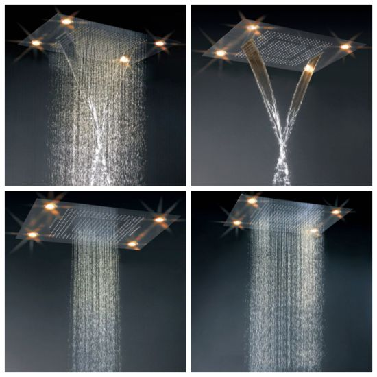600mm*800mm Super Large LED Shower with Lights