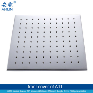 10 Inch Square Detachable Rain Shower